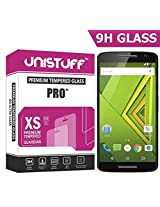 Unistuff ( TM ) 9H Surface Hardness Tempered Glass for Motorola Moto X Play