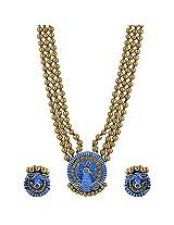 Avarna Terracotta Necklace Set Nsa0003 For Women (Blue )