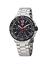 TAG Heuer Men''s CAU1110.BA0858 Formula 1 Black Dial Chronograph Steel Watch