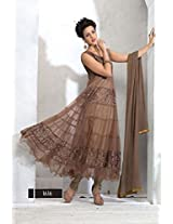 Khantil New Collection In Designer Brown Anarkali Suits