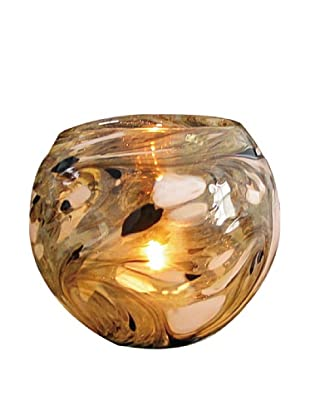 La Meridian Hand Blown Glass Tea Candle Holder