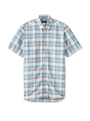 Gitman Blue Men's Vintage Check Long Sleeve Sportshirt (Blue Multicolor)