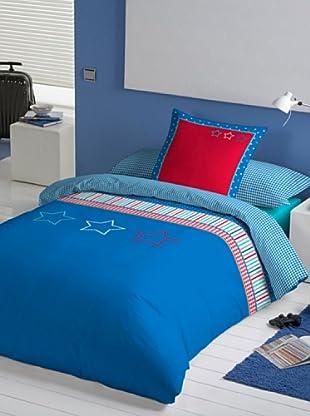 Lief Funda Nórdica Basic Boy Blue (azul / rojo)