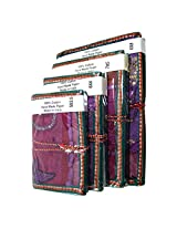 R S Jewels Handmade Paper Printed Patchwork Diary Notbook 4 Pcs Set DRY-0213