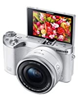 Samsung Electronics NX500 28 MP Wireless Smart Mirrorless Digital Camera with Included Kit Lens (White)