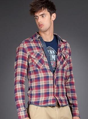 Schott NYC Camisa Burdeos (Burdeos)