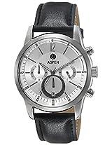 Aspen Analog White Dial Men's Watch - AM0070