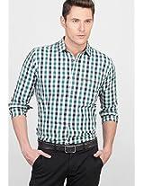 Checks Green Casual Shirt Basics