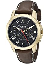 Fossil End of Season Grant Analog Black Dial Men's Watch - FS5062