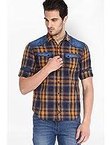 Checks Multi Colour Casual Shirt Locomotive