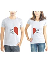 LaCrafters Couple Tshirt - Love is a Miracle Grey_Medium