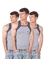 ONN NS523 Men's Assorted Color Cotton Sports Vest Pack of 3 (Large)
