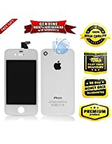 Replacement Apple iPhone 4S LCD TouchScreen Digitizer Display Assembly White/Black with Free Back Panel