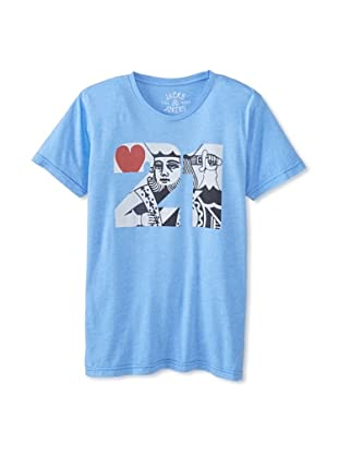 Jacks & Jokers Men's 21 King Tee (Sky Blue)