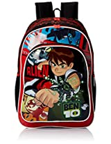 "Ben 10 Polyester Children's Backpack (ACT BEN10 1501 18""-RED)"