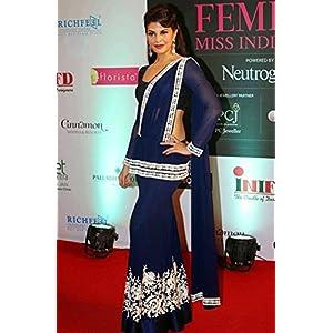 Jacqueline Fernandez Blue Lehenga by Manish Malhotra