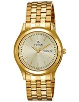 Titan Analog Gold Dial Men's Watch - 1648YM05