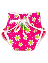 Reusable Swim Diaper | Pink Daisies Size , Large
