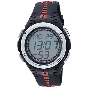 Sonata Super Fibre Digital Grey Dial Men's Watch - NF7965PP02J