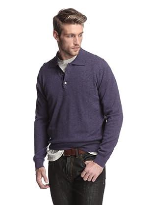 Oxxford Men's Polo Sweater (Purple)