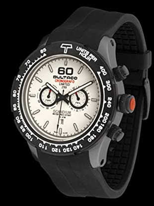 Bultaco H1SA48C-CW1 - Reloj Scandium Limited correa silicona blanco