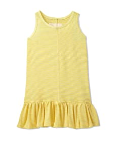 Peas & Queues Kids Piper Striped Tank Dress (Yellow)