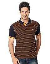 Peter England Striped Regular Fit T Shirt