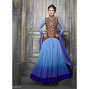 V & V Exclusive Designer Sky Anarkali Suits SEM409-42004