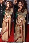 Bollywood Replica Aishwarya Rai Net and Paper Silk Saree In Beige and Green Colour NC627