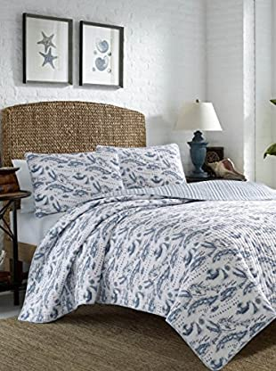Tommy Bahama Caribbean Sea Map Reversible Quilt Set
