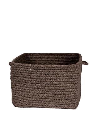 Colonial Mills Chunky Natural Wool Basket, (Dark Brown)