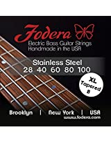 Fodera Electric Bass Guitar Strings, Roundwound 5-String Stainless Steel - 28100 XL TB