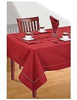 SWAYAM Cotton 10 Piece Kitchen Linen Set - Scarlet Maroon