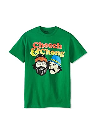 Cheech and Chong Men's Crew Neck Tee (Kelly Green)