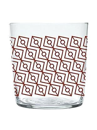 Molecuisine Glas 4er Set Magatama 37 cl rot