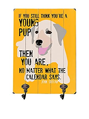 Artehouse Young Pup Leash Hanger, Yellow/Beige