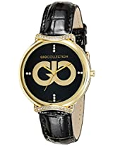 Gio Collection Analog Black Dial Women's Watch - G0051-04
