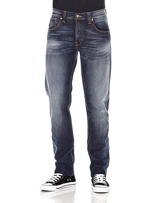 Nudie Jeans Pantalón Sharp Bengt (Azul medio)