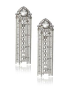 Leslie Danzis Antique Silver Fringe Earrings