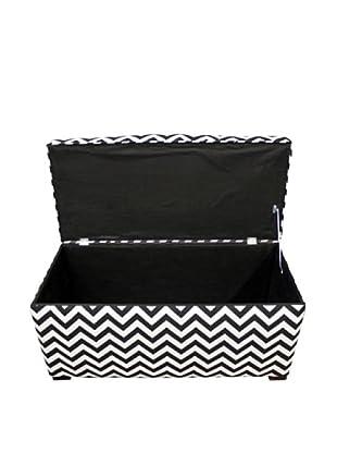 Sole Designs Angela Zig-Zag Storage Trunk, Black/White