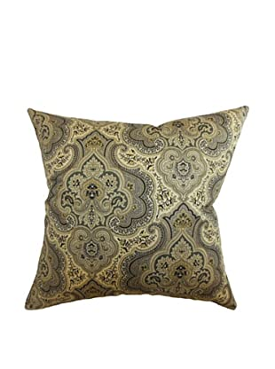 The Pillow Collection Danielle Paisley Pillow, Charcoal