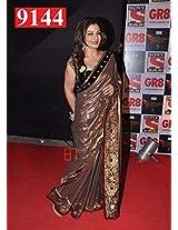 Bollywood Replica Ravina Tandon Brown Color Party Wedding Wear Saree