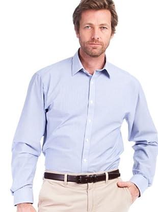 Cortefiel Camisa Rayas (celeste / blanco)