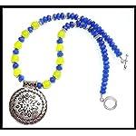 [N15M_011] Neon Blue Necklace set