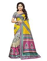 DivyaEmporio Women's Ethnic saree Unstitched Dress Material (Free Size)
