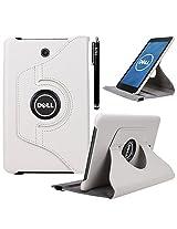 Dell Venue 8 Case, E LV Dell Venue 8 Case Cover 360 rotating Lightweight case for Venue 8 Tablet (Android Tablet) (will only fit Dell Venue 8 tablet) - WHITE