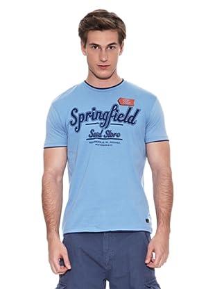 Springfield Camiseta E2 Spf Doble (Azul Claro)