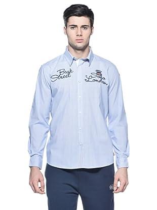 Lonsdale Camisa Logo (Azul / Blanco)