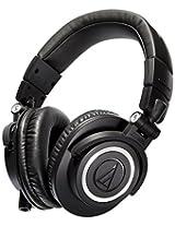 Audio-Technica ATH-M50x Over-Ear Professional Studio Monitor Headphone (Black)