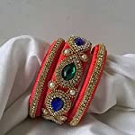Red silk thread grand Fashion Bangle Set Of 3